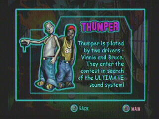 Game: Twisted Metal Small Brawl Name: Vinnie and Bruce Vehicle: Thumper Level of Offensiveness: Still pretty high up.